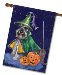 Schnauzer Good Witch - House Flag - 28'' x 40''