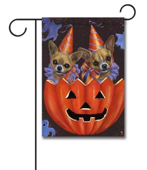 Chihuahua Halloweenies - Garden Flag - 12.5'' x 18''