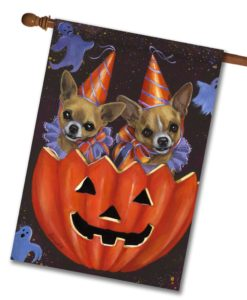 Chihuahua Halloweenies - House Flag - 28'' x 40''