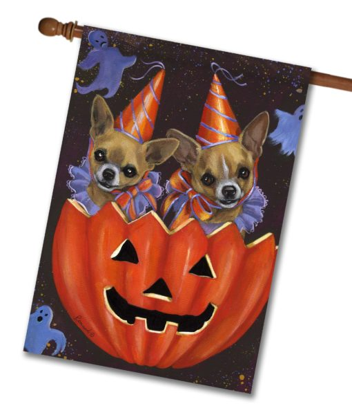 Chihuahua Halloweenies - House Flag - 28'' x 40''