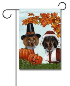 Dachshund Thankful- Garden Flag - 12.5'' x 18''