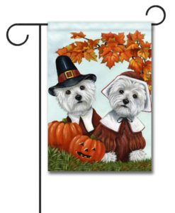 West Highland Terrier Thankful - Garden Flag - 12.5'' x 18''