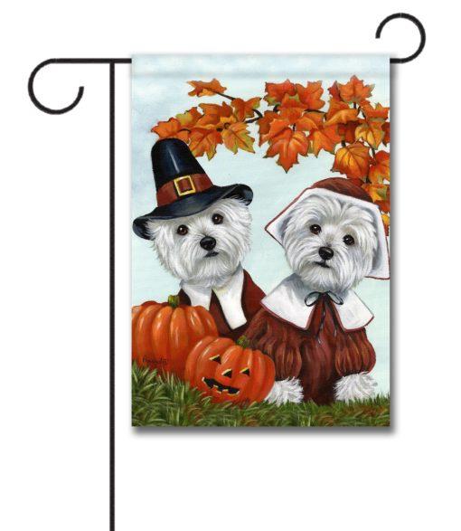 West Highland Terrier Thankful - Garden Flag - 12.5'' x 18''