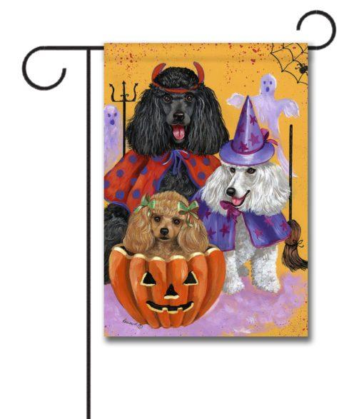 Poodle Halloweenies - Garden Flag - 12.5'' x 18''