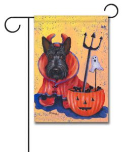 Scottish Terrier Boo Hoo - Garden Flag - 12.5'' x 18''