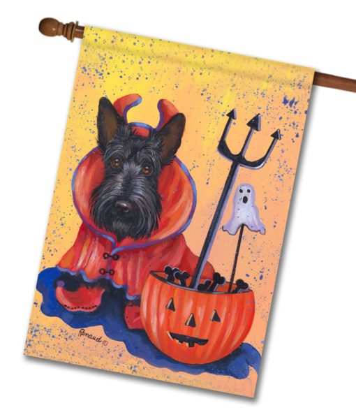 Scottish Terrier Boo Hoo - House Flag - 28'' x 40''
