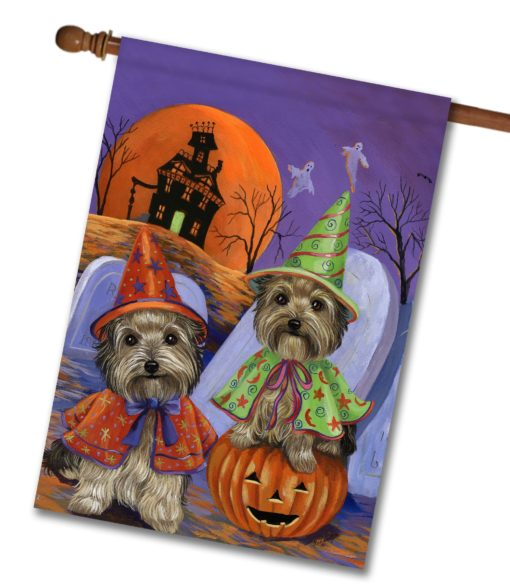 Yorkshire Terrier Haunted House - House Flag - 28'' x 40''