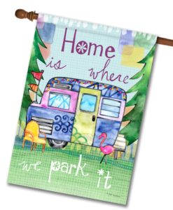 Color My Camper- House Flag - 28'' x 40''