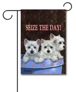 Seize The Day - Garden Flag - 12.5'' x 18''
