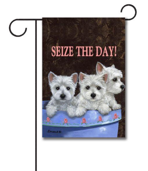 Seize The Day - Garden Flag - 12.5'' x 18''