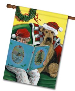 Airedale Storybook Tails - House Flag - 28'' x 40''