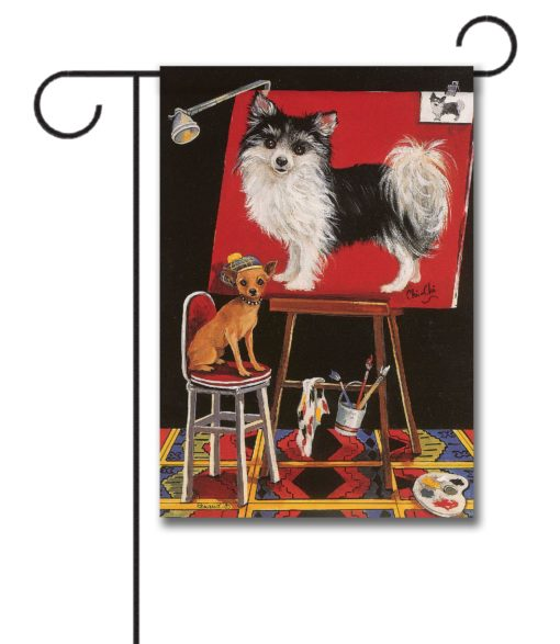 Chihuahua Think Big - Garden Flag - 12.5'' x 18''