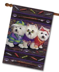 West Highland Terrier Free Spirits - House Flag - 28'' x 40''