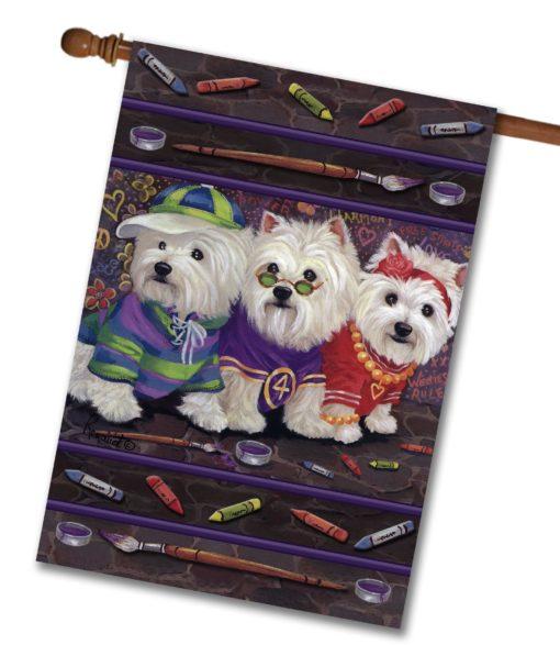 West Highland Terrier Free Spirits - House Flag - 28'' x 40''