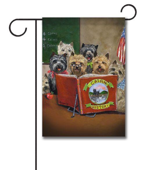 Cairn Terrier History Class - Garden Flag - 12.5'' x 18''