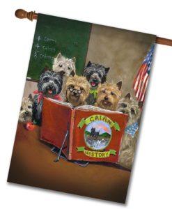 Cairn Terrier History Class - House Flag - 28'' x 40''