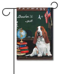 Basset Hound Teacher's Pet - Garden Flag - 12.5'' x 18''