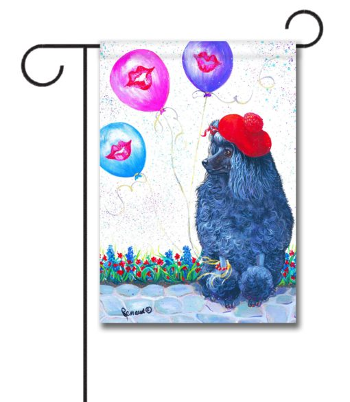 Poodle Totally Chic - Garden Flag - 12.5'' x 18''