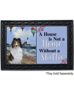 Shetland Sheepdog Air Fair House Not A Home Doormat
