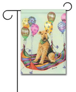 Airedale Terrier High Flyer - Garden Flag - 12.5'' x 18''