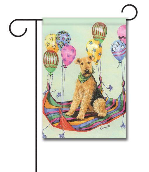 Airedale Terrier High Flyer - Garden Flag - 12.5'' x 18''