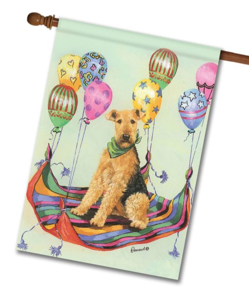 Airedale Terrier High Flyer - House Flag - 28'' x 40''