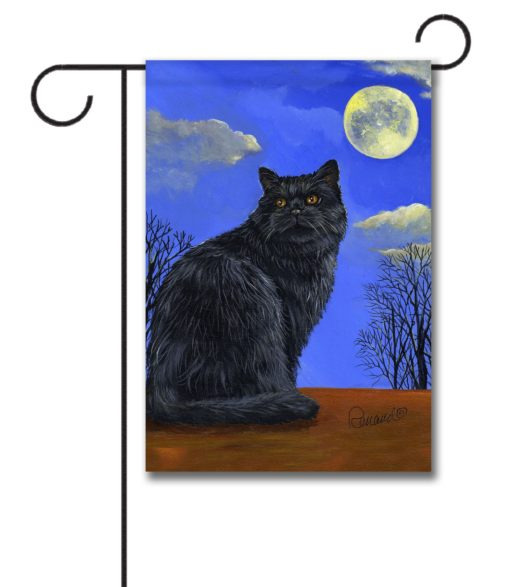 Black Cat Hocus Pocus - Garden Flag - 12.5'' x 18''