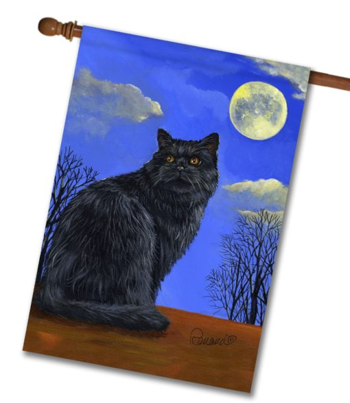 Black Cat Hocus Pocus - House Flag - 28'' x 40''