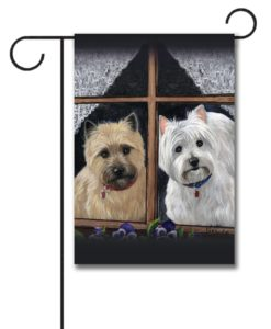 West Highland Terrier Cairn Casey Molly - Garden Flag - 12.5'' x 18''