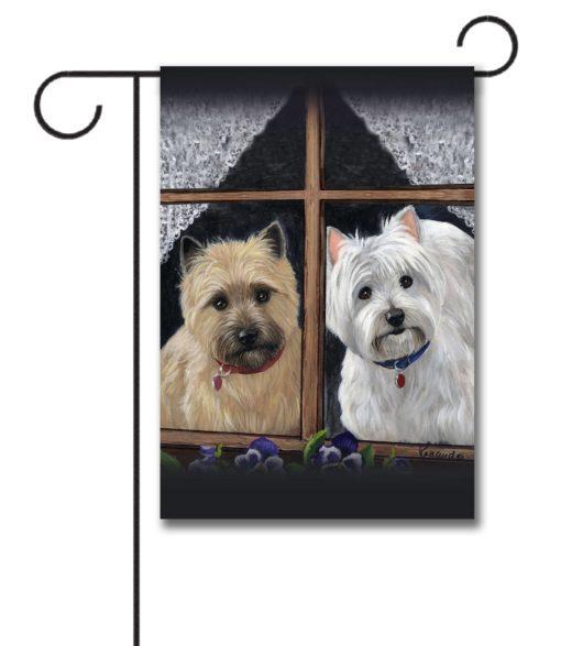 West Highland Terrier Cairn Casey Molly - Garden Flag - 12.5'' x 18''