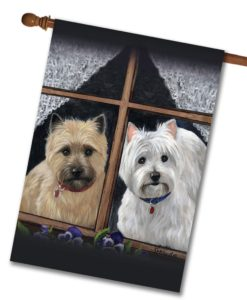 West Highland Terrier Cairn Casey Molly - House Flag - 28'' x 40''