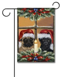 Pug Anticipation - Garden Flag - 12.5'' x 18''