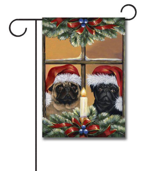 Pug Anticipation - Garden Flag - 12.5'' x 18''