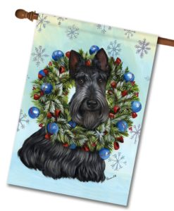 Scottish Terrier Snowflake - House Flag - 28'' x 40''
