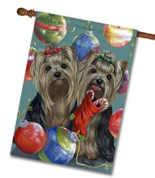 Yorkshire Terrier All That Glitters - House Flag - 28'' x 40''