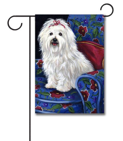Coton de Tulear Royalty - Garden Flag - 12.5'' x 18''