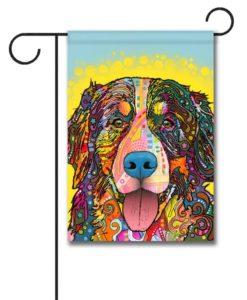 Bernese Mountain Dog Pop Art - Garden Flag - 12.5'' x 18''