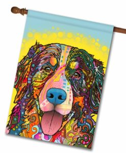 Bernese Mountain Dog Pop Art - House Flag - 28'' x 40''