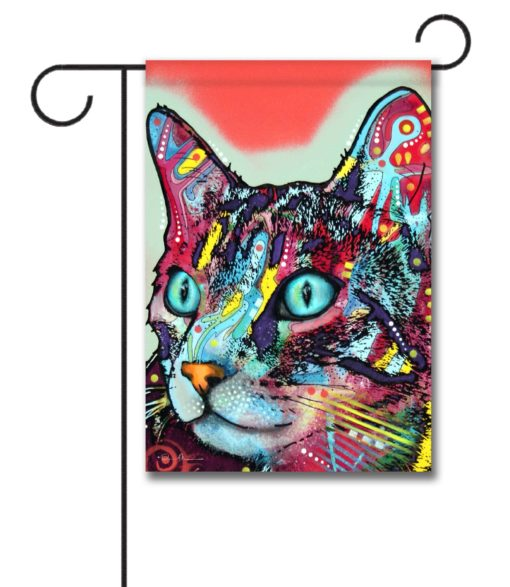 Curious Cat - Garden Flag - 12.5'' x 18''