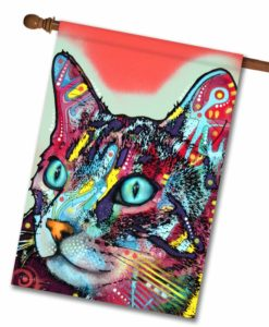 Curious Cat - House Flag - 28'' x 40''