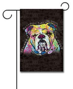 Bulldog Heart - Garden Flag - 12.5'' x 18''