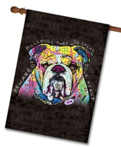Bulldog Heart - House Flag - 28'' x 40''