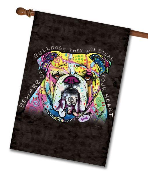 Bulldog Heart - House Flag - 28'' x 40''