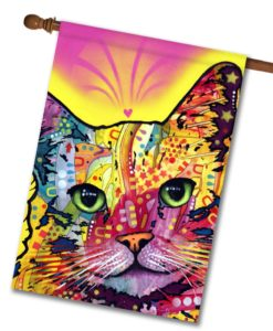 Tilt Cat - House Flag - 28'' x 40''