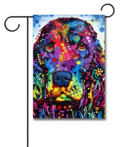 Cocker Spaniel Pop Art - Garden Flag - 12.5'' x 18''
