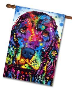 Cocker Spaniel Pop Art - House Flag - 28'' x 40''