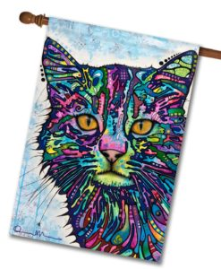 Diligence Cat - House Flag - 28'' x 40''