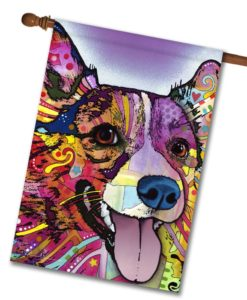 Corgi Pop Art - House Flag - 28'' x 40''