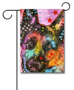 German Shepherd Pop Art - Garden Flag - 12.5'' x 18''