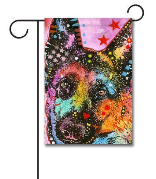 German Shepherd Pop Art - Garden Flag - 12.5'' x 18''